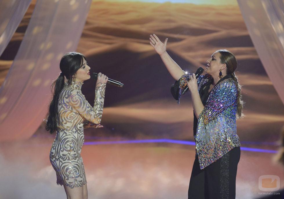 Alba Gil y Niña Pastori en la final de 'La Voz 5'