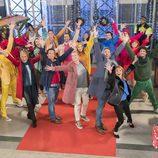 Los presentadores de los magazines de TVE bailando en 'Telepasión'
