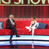 Carlos Sobera junto a Guillem en 'Little Big Show'
