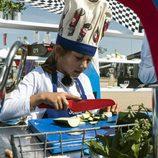María cocina en Motorland en el tercer programa de 'Masterchef Junior 5'