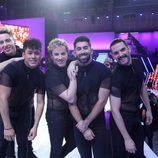 Los bailarines de 'Tu cara me suena' posan durante el Concierto de Año Nuevo