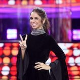 Elena Furiase posa en el escenario de 'Tu cara me suena'