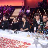 Manel Fuentes junto al jurado de 'Tu cara me suena' durante el Concierto de Año Nuevo