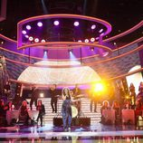 Llum Barrera imitando a Gloria Estefan durante el Concierto de Año nuevo de 'Tu cara me suena'