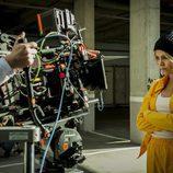 Maggie Civantos durante el rodaje de la tercera temporada de 'Vis a vis'