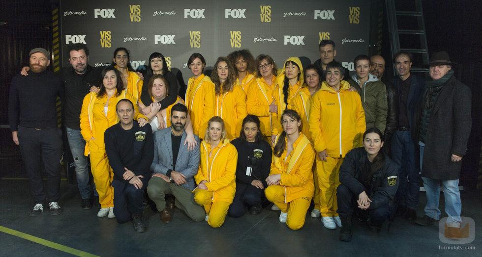 El reparto al completo en la presentación de la tercera temporada de 'Vis a vis'