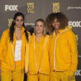 Alba Flores, Maggie Civantos y Berta Vázquez en la presentación de la tercera temporada de 'Vis a vis'