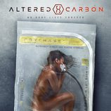 Cartel de 'Altered Carbon' con un cuerpo humano envasado al vacío