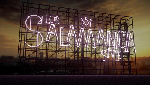 """Cartel de los """"Salamanca Style"""" en 'Los reyes del barrio'"""