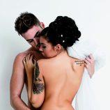 Jaime y Sonia de '¿Quién quiere casarse con mi hijo?' posan desnudos de espaldas en Primera Línea