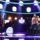 Lucía Gil imita a The Corrs en la gala 14 de 'Tu cara me suena'