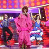 Carlos Baute es Celia Cruz en la gala 14 de 'Tu cara me suena'