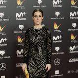 Nuria Gago posa en la alfombra roja de los Premios Feroz 2018