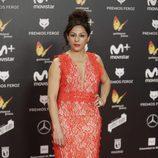 Cristina Medina posa en la alfombra roja de los Premios Feroz 2018