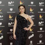 Aída Folch posa en la alfombra roja de los Premios Feroz 2018