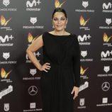 Cristina Plazas posa en la alfombra roja de los Premios Feroz 2018