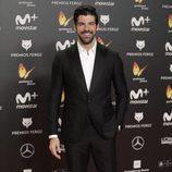 Miguel Ángel Muñoz posa en la alfombra roja de los Premios Feroz 2018