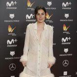 Nadia de Santiago posa en la alfombra roja de los Premios Feroz 2018