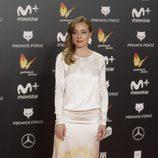 Ángela Cremonte posa en la alfombra roja de los Premios Feroz 2018