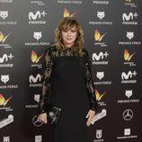 Emma Suárez posa en la alfombra roja de los Premios Feroz 2018