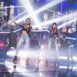 """Ana Guera y Aitana cantan """"Lo malo"""" en la Gala de Eurovisión de 'OT 2017'"""