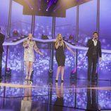 """Los exconcursantes cantan """"La, la, la"""" en la Gala de Eurovisión de 'OT 2017'"""
