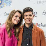 Alfred y Amaia posan en la rueda de prensa de RTVE como representantes en Eurovisión