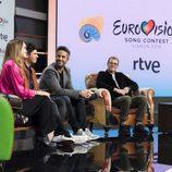 Alfred y Amaia durante la rueda de prensa de RTVE como representantes de España en Eurovisión 2018