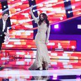 Chenoa saluda en la Gala de Eurovisión de 'Tu cara me suena'