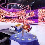 El plató en la Gala de Eurovisión de 'Tu cara me suena'