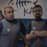 Peio, Antxón y Koldo en la cuarta temporada de 'Allí abajo'