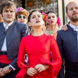 María León, Salva Reina y Alberto López en la cuarta temporada de 'Allí abajo'