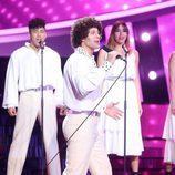 David Amor es Izhar Cohen en la gala de Eurovisión de 'Tu cara me suena'