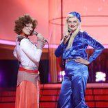 """Lucía Jiménez y Olga Hueso cantan """"Waterloo"""" de ABBA en la gala de Eurovisión de 'Tu cara me suena'"""