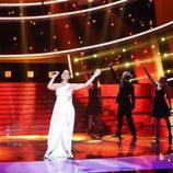 """Diana Navarro canta """"Quédate conmigo"""" de Pastora Soler en la gala de Eurovisión de 'Tu cara me suena'"""