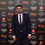 Manolo Solo posa en la alfombra roja de los Premios Goya 2018
