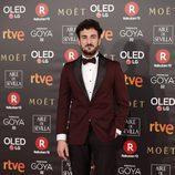 Miki Esparbé posa en la alfombra roja de los Premios Goya 2018