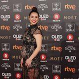 Cristina Brondo posa en la alfombra roja de los Premios Goya 2018