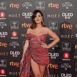 Dulceida posa en la alfombra roja de los Premios Goya 2018