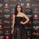 Nuria Gago posa en la alfombra roja de los Premios Goya 2018