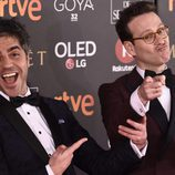 Ernesto Sevilla y Joaquín Reyes posan en la alfombra roja de los Premios Goya 2018