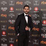 Miguel Diosdado posa en la alfombra roja de los Premios Goya 2018