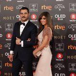 Antonio Velázquez posa en la alfombra roja de los Premios Goya 2018