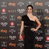 Elena Furiase en la alfombra roja en los Premios Goya 2018