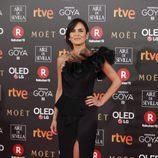 Elena S. Sánchez posa en la alfombra roja de los Premios Goya 2018