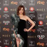 Macarena Gómez en la alfombra roja de los Goya 2018