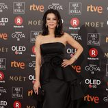Ana Álvarez posa en la alfombra roja de los Premios Goya 2018
