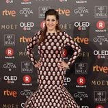 Pepa Charro posa en la alfombra roja de los Premios Goya 2018