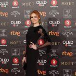 Cristina Castaño posa en la alfombra roja de los Premios Goya 2018