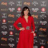 Ana Turpin posa en la alfombra roja de los Premios Goya 2018